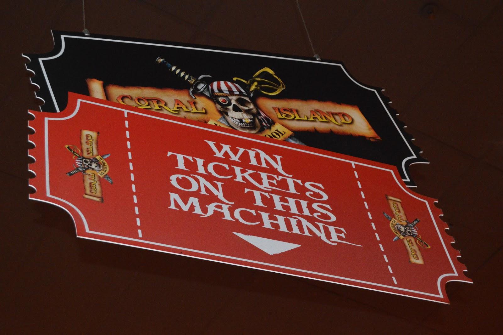 ticket machines at the Arcade