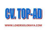 Loker Solo Admin Gudang Lulusan SMA SMK di CV TOP-AD