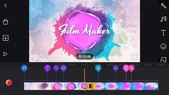 Film Maker Pro  حرر مقاطع الفيديو الخاصة بك بالموسيقى والصوت والكثير من الميزات