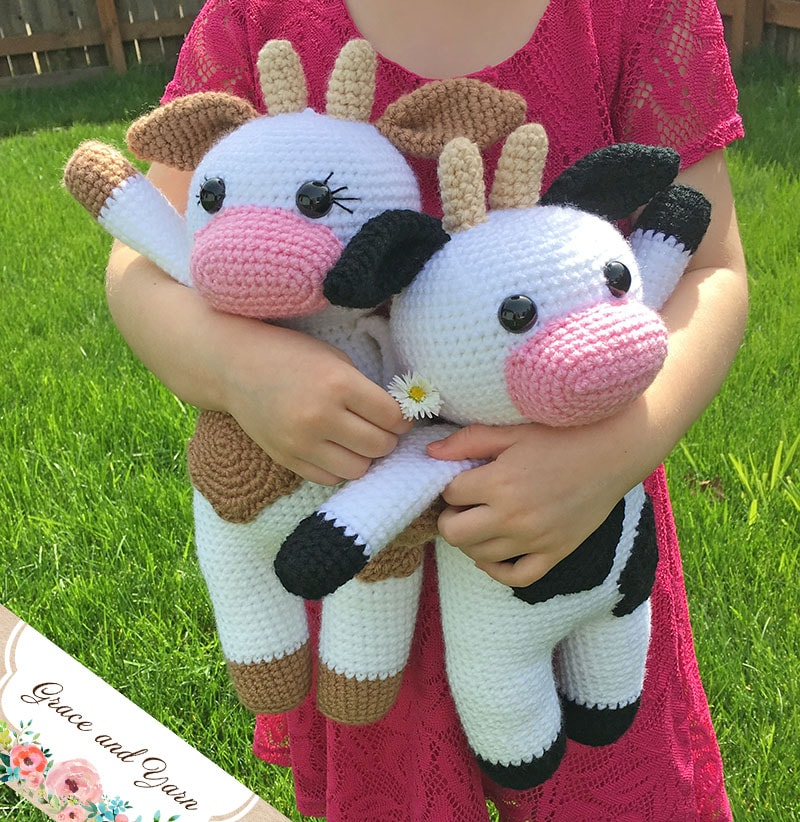 Amigurumi Cow A Free Crochet Pattern Grace And Yarn