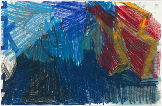 Per Kirkeby Untitled, ca. 1986 Pencil, charcoal, pastel, watercolor on paper 65 x 99.5 cm