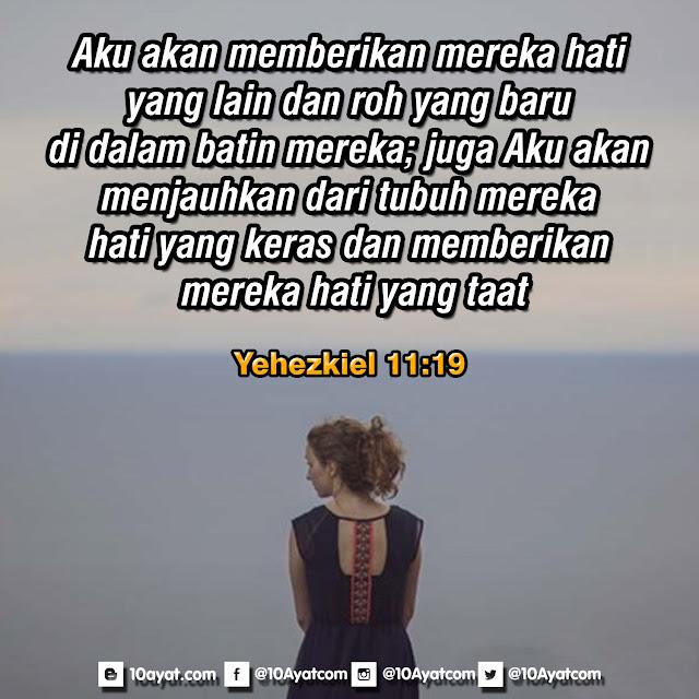 Yehezkiel 11:19