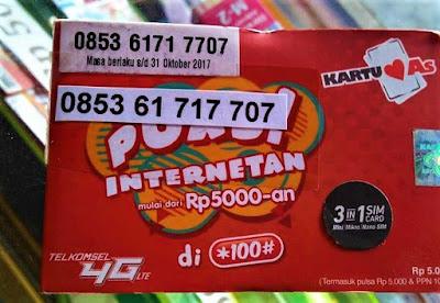 0853 Nomor Kartu As Telkomsel