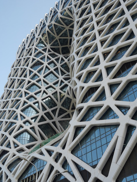 north side of the Morpheus hotel at City of Dreams in Macau