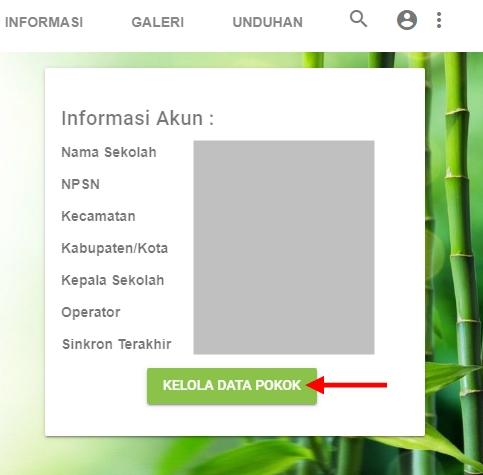Kelola Data Pokok