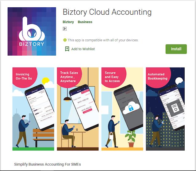Biztory Cloud Accounting Software Google Play