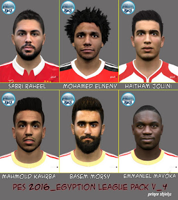PES 2016 Egyption League FacePack V_4 by Prince Shieka
