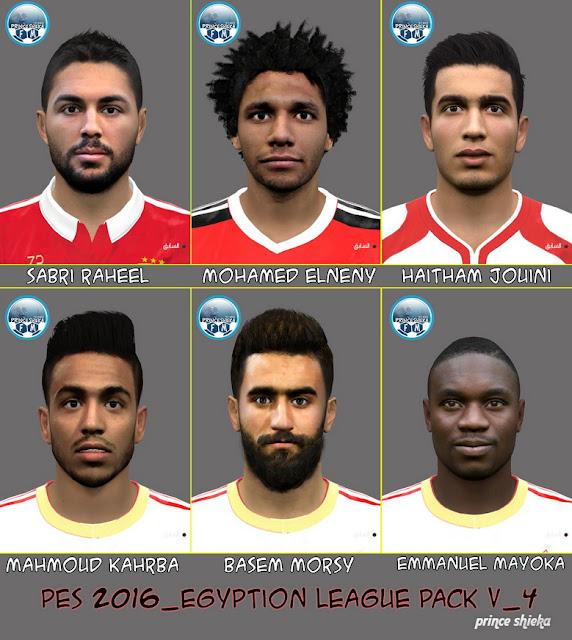 PES 2016 Egyption League FacePack V_4 by Prince Shieka