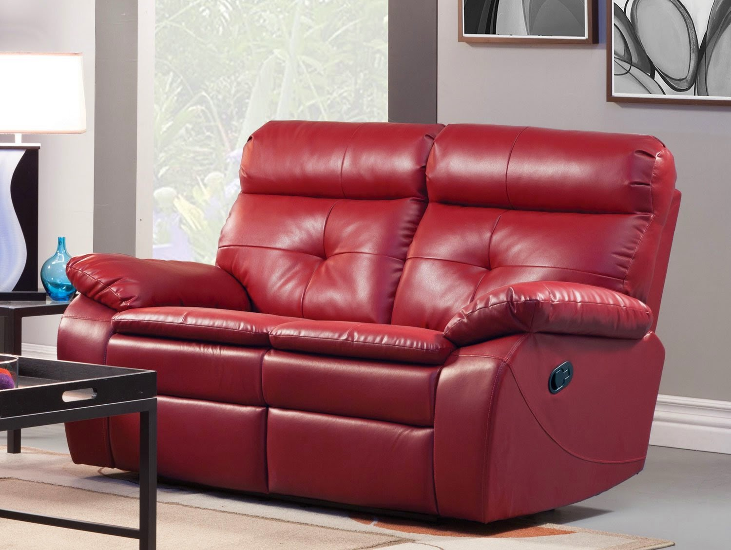 Wallace Love Seat Red & Cheap Reclining Sofas Sale: 2 Seater Leather Recliner Sofa Sale islam-shia.org