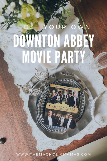 Grab a copy of the new Downton Abbey Movie DVD from Walmart and host your own at home watch party today!