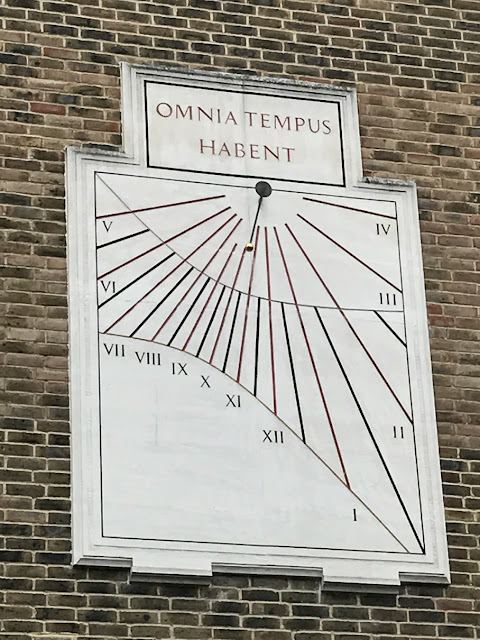 Sundial on the back of Trinity Hospital, Greenwich, London