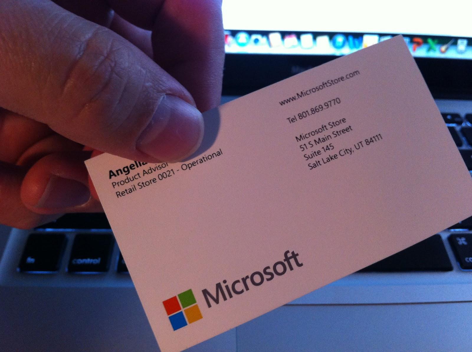 Angella Gave Me Her Business Card Matt Scanned My