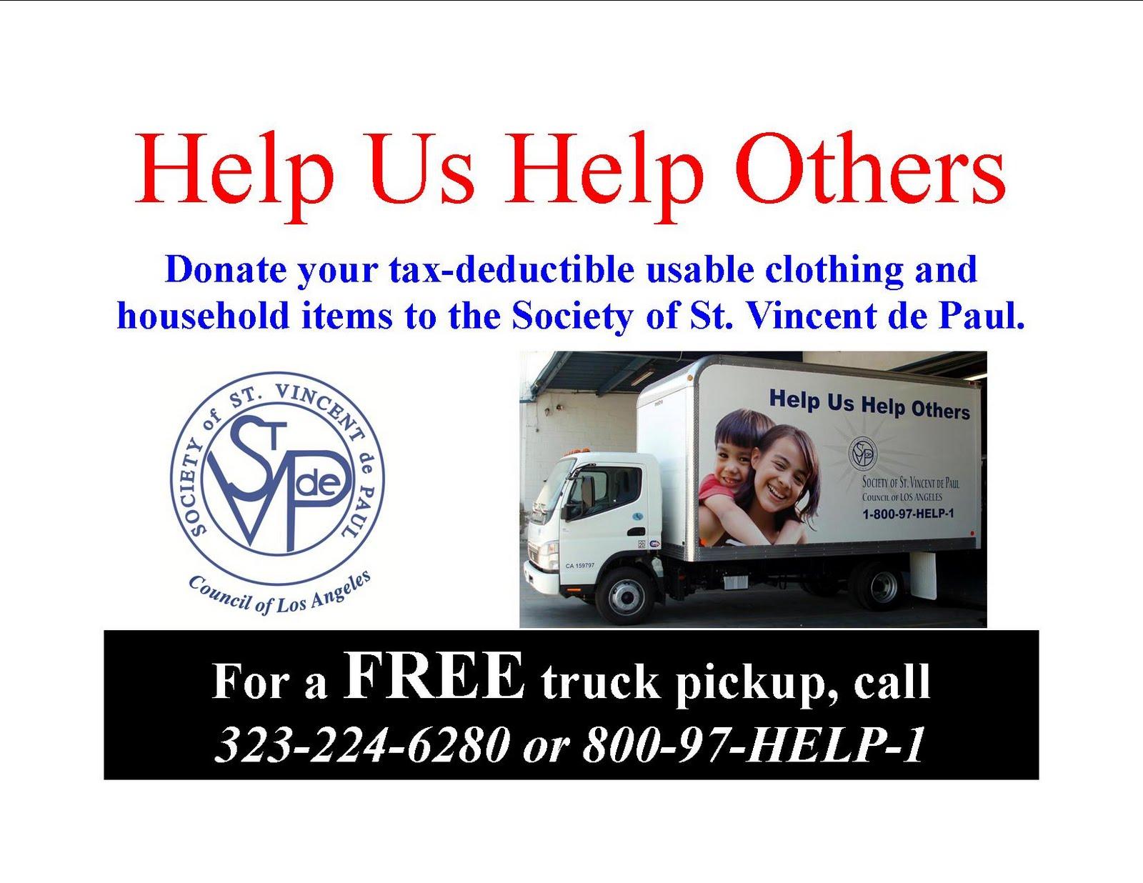 Free Furniture Pickup For Donation St. Vincent de Paul of Los Angeles: October 2011