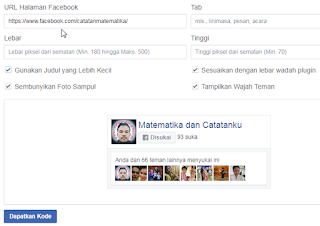 Membuat Fanspage FB di Blog