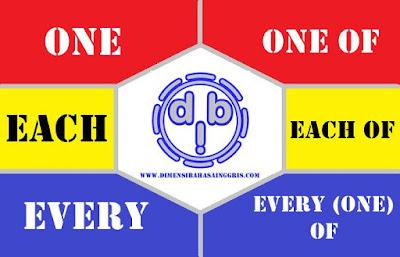 Perbedaan Penggunaan One, Each, Every dengan One of, Each of dan Every (one) of