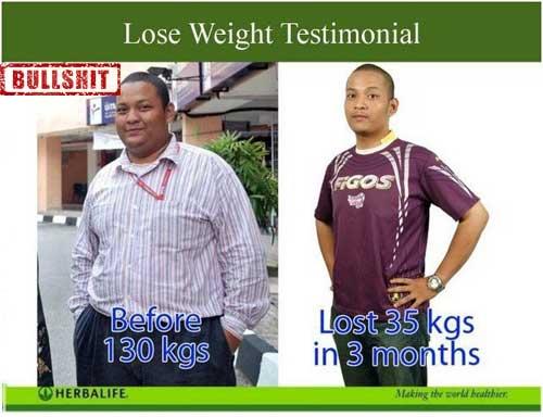 testimoni turun berat badan dengan herbalife