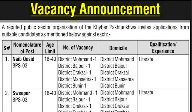 2 Latest Govt Jobs at Peshawar & KPK || پاکستان میں سرکاری ملازمتیں
