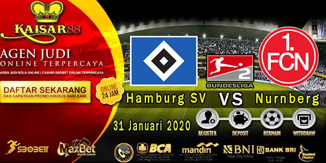 Prediksi Bola Terpercaya Liga German 2 Hamburg SV vs Nurnberg 31 Januari 2020