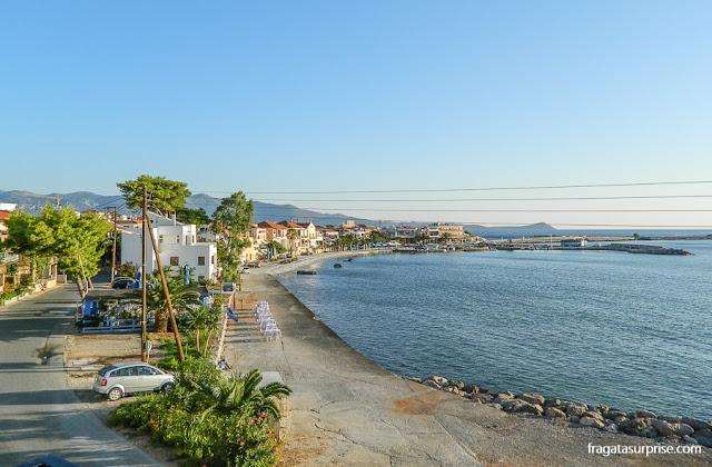 Praia em Gefira, Monemvasia, Grécia