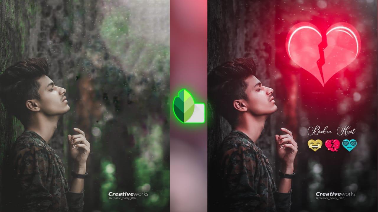 Snapseed Heart Photo Editing