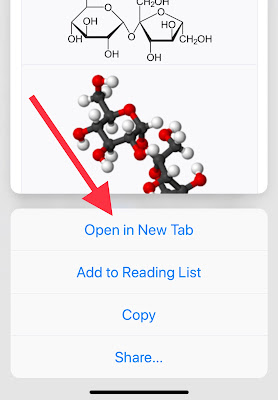 How to open a link from a website in a new tab safari iPhone