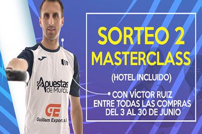 Padel Nuestro sortea dos Masterclass con el jugador murciano WPT Víctor Ruiz
