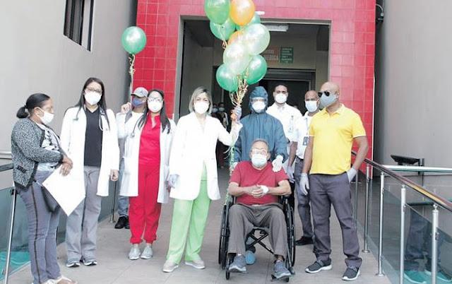 Un hombre de 85 años e hipertenso supera el virus