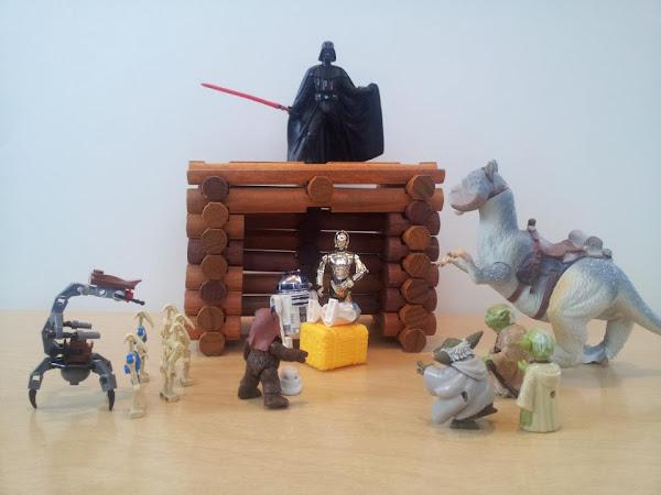 nativity scene with star wars figures