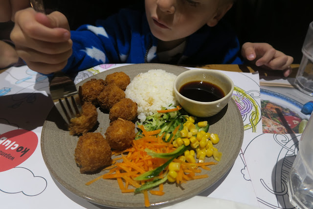 Kids crispy cod cubes meal Wagamama Bournemouth