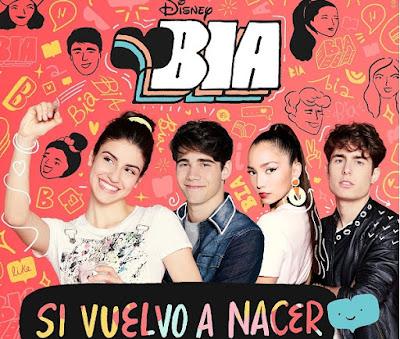 Foto: elenco de Bia reunido; Si Vuelvo a nacer (capa)