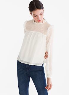 blouse blanche plumetis C&A