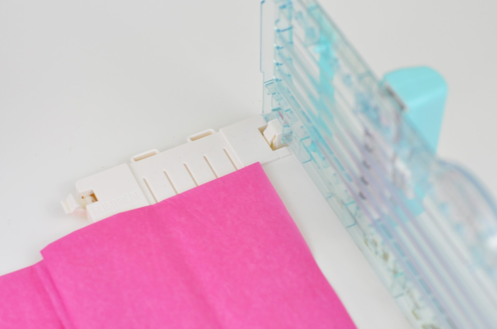 DIY Tissue Paper Tassel banner using the We R' Memory Keepers Fringe and Score Board. How to make a tassel banner with Jen Gallacher.