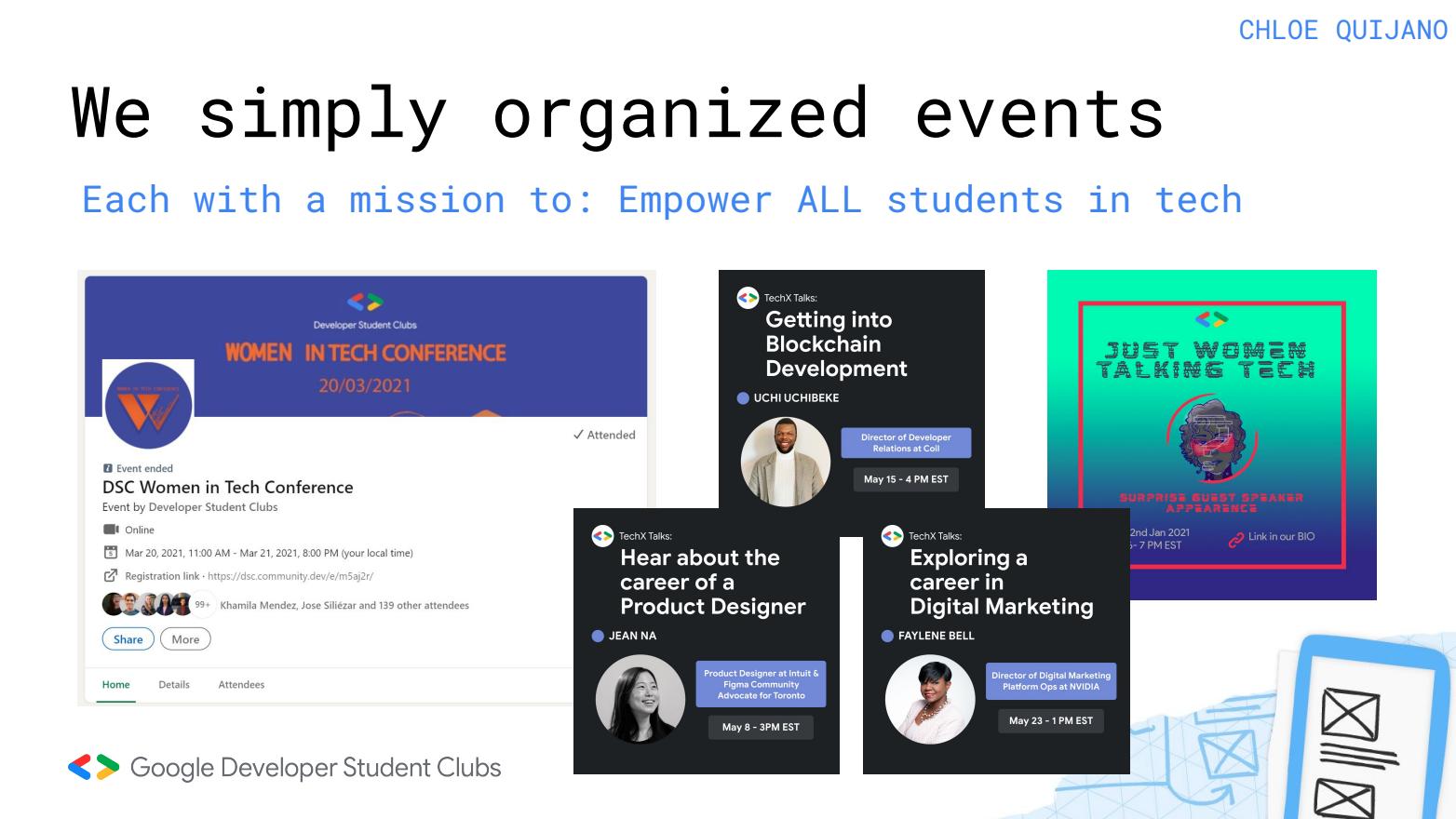 Image shows Conference details and workshop titles