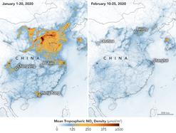Emissão de NO2 pela China no período do Coronavírus