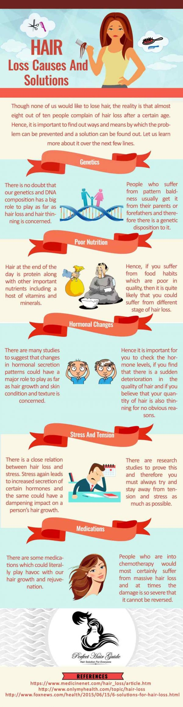 Hair Loss Causes And Solutions #infographic