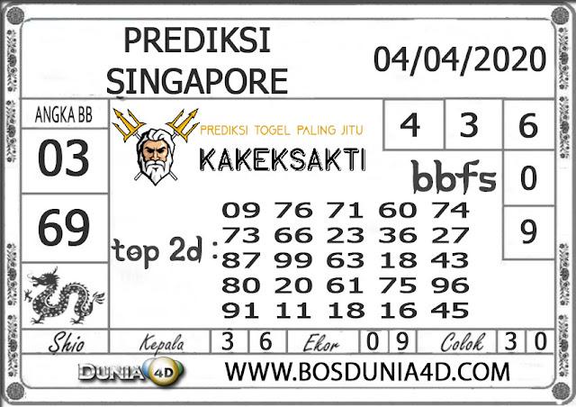 Prediksi Togel SINGAPORE DUNIA4D 04 APRIL 2020