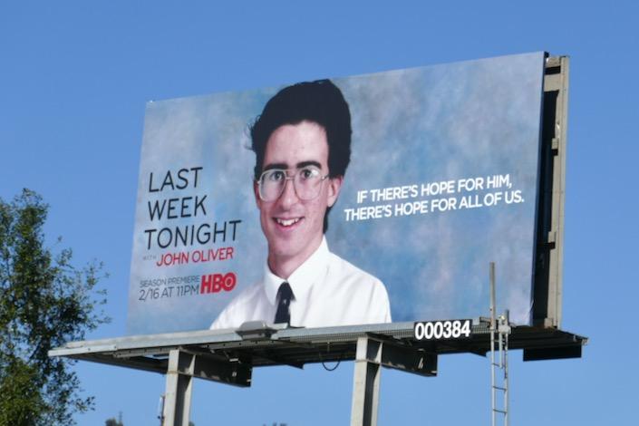 John Oliver season 7 school photo billboard
