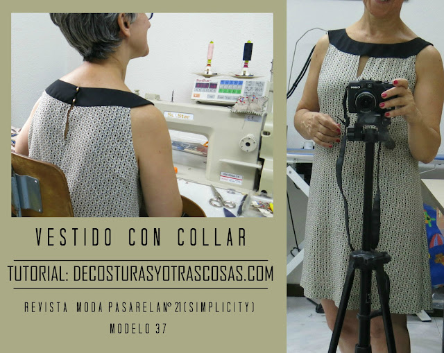 tutorial vestido con collar