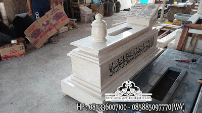 Makam Model Uje Terbaru, Makam Uje Marmer Custom, Kijing Makam Marmer
