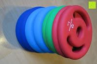 Stapel: Langhantel GEPOLSTERT inkl. Federverschluss / Gewichtsvarianten 2kg 4kg 6kg 8kg 10kg 12kg 14kg 18kg 20kg in unterschiedlichen Farben