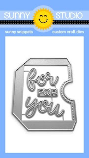 "Sunny Studio Blog: Introducing Gift Card Pocket Metal Cutting Dies with script ""for you"" word dies"