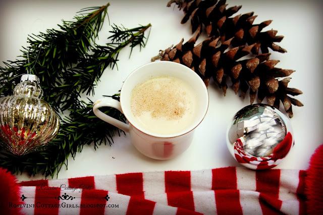 Eggnog, Eggnog recipe, Christmas Eggnog, Egg Nog, Homemade Eggnog, by rosevine cottage girls