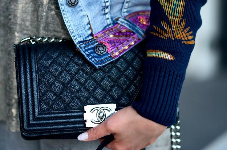 Chanel boy bag, Grained chanel boy