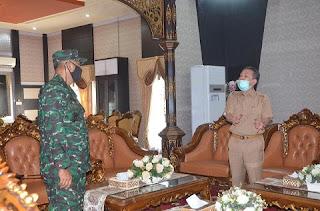 Bupati Batanghari Sambut Kunker Komandan Korem Provinsi Jambi