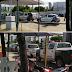 Viaturas da Polícia já estão paradas no posto do governo sem combustível