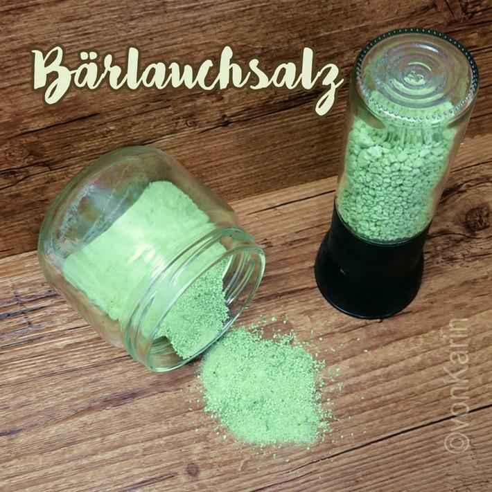 Rezept aus der Kueche - Baerlauchsalz - selbstgemachtes gruenes Salz
