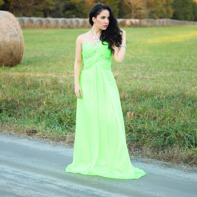 Grace Karin Green Evening Dress