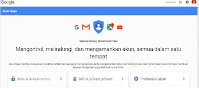 Login di Akun Google Berhasil