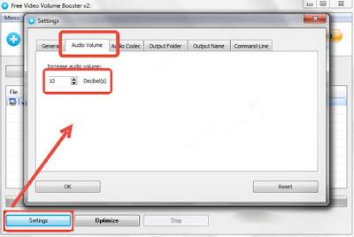 رفع صوت الفيديو المنخفض , برنامج Free Video Volume Booster