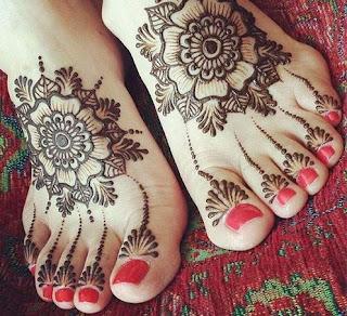 contoh henna kaki untuk pengantin